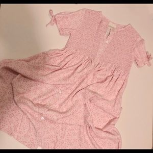 Laura Ashley Pink Floral Dress Size 7 Years